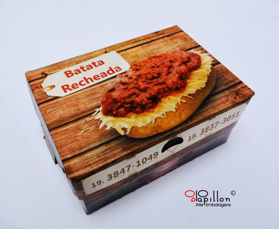 Caixa para batata assada (impressão em offset) 18x13x8cm