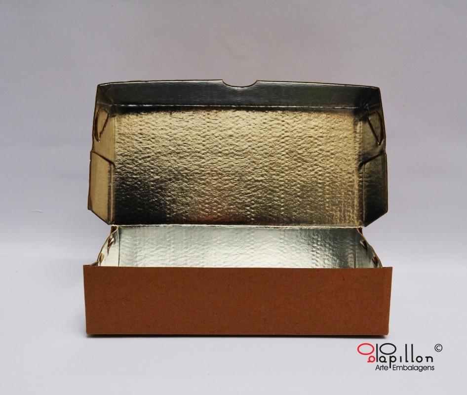 Caixa para espetinhos e baguetes P: 27x9x6cm M: 32,5 x 8,5 x 5,5 G:27x12x6cm