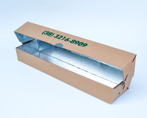 Caixa para espetinhos laminada