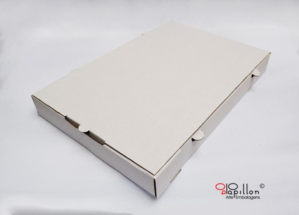 Caixa para 100 salgados parte externa branca