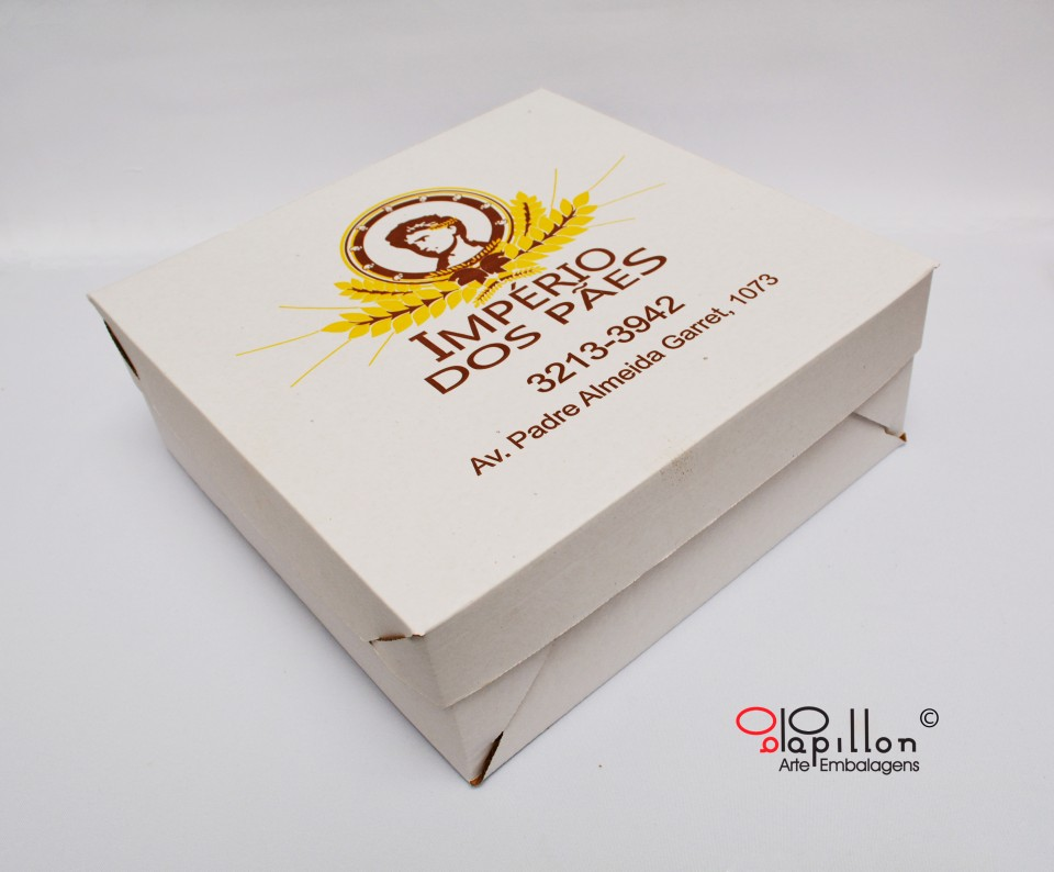 Caixa para bolos (tampa branca)