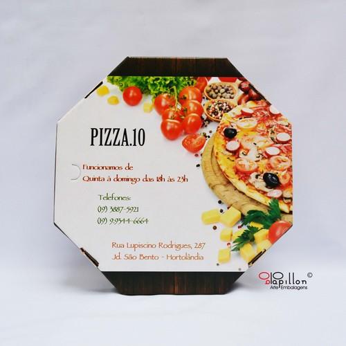Caixa de pizza fotográfica