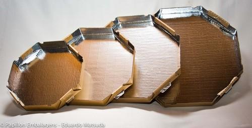 Caixa de pizza com fundo de alumínio