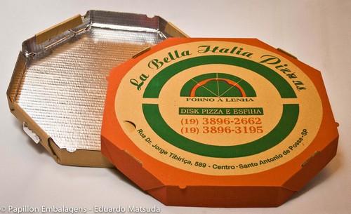 Caixa de pizza fundo metalizado