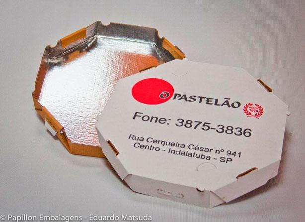 Caixa de pizza laminada