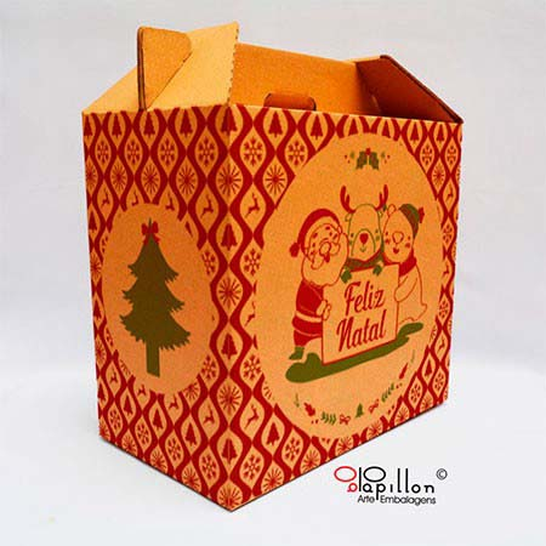 Caixas de papelão para cestas natalinas