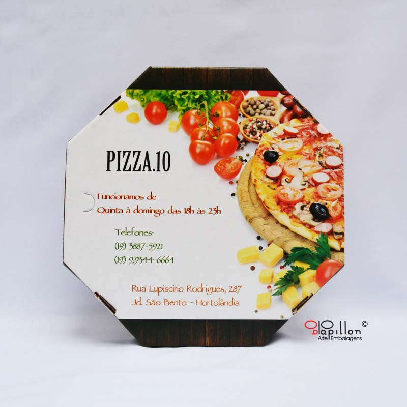 Embalagem para pizza fotográfica